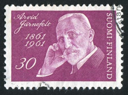 FINLAND - CIRCA 1961: stamp printed by Finland, shows Writer Arvid Jarnefelt, circa 1961 Stock Photo - 14224327