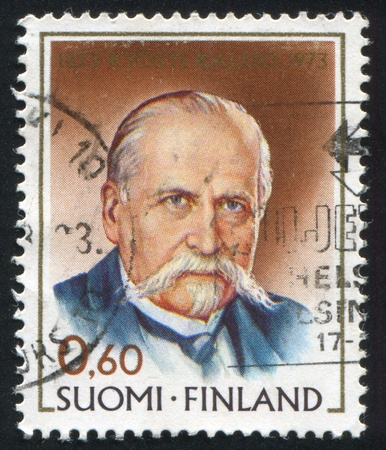 FINLAND - CIRCA 1973: stamp printed by Finland, shows President Kyosti Kallio, circa 1973 Stock Photo - 14224342
