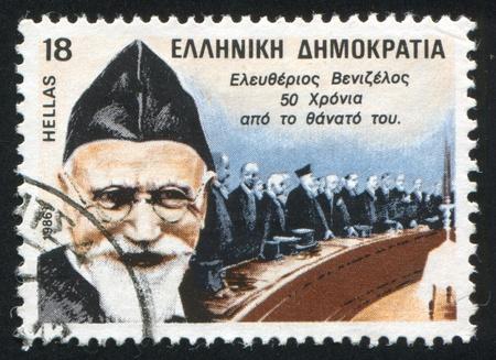 GREECE - CIRCA 1986: stamp printed by Greece, shows Eleutherios Venizelos, premier, circa 1986 Stock Photo - 14224337