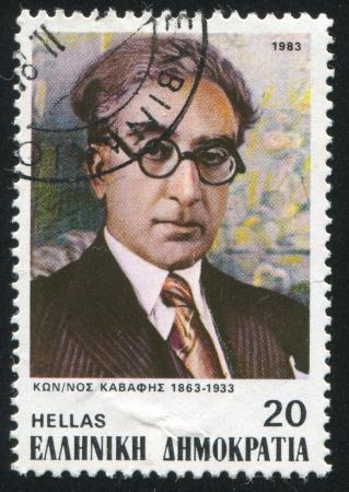 GREECE - CIRCA 1983: stamp printed by Greece, shows Konstantine Cavafy, poet, circa 1983 Stock Photo - 14224371