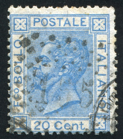 ITALY - CIRCA 1867: stamp printed by Italy, shows king Victor Emmanuel II, circa 1867 Stock Photo - 14224329