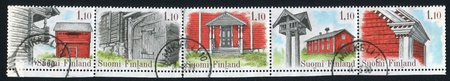 FINLAND - CIRCA 1979: stamp printed by Finland, shows Farm Houses, circa 1979 photo