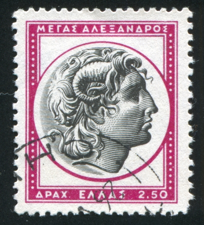 GREECE - CIRCA 1954: stamp printed by Greece, shows Alexander the Great, circa 1954 photo