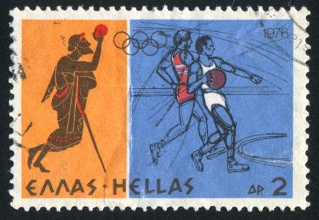 GREECE - CIRCA 1976: stamp printed by Greece, shows Basketball, circa 1976