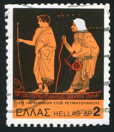 GREECE - CIRCA 1977: stamp printed by Greece, shows Young Hercules and old nurse, circa 1977 Stock Photo - 14258020