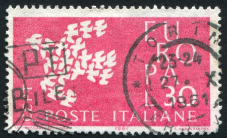 ITALY - CIRCA 1961: stamp printed by Italy, shows Flock of birds, circa 1961 photo