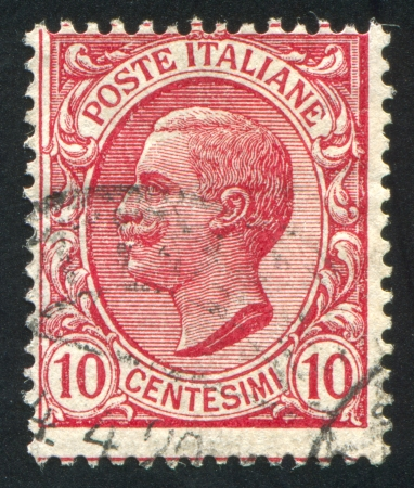 ITALY - CIRCA 1906: stamp printed by Italy, shows king Victor Emmanuel III, circa 1906 Stock Photo - 14311846
