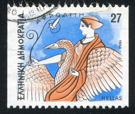 GREECE - CIRCA 1986: stamp printed by Greece, shows Gods, Aphrodite, circa 1986