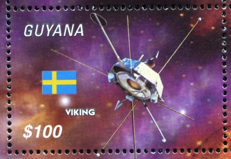 GUYANA - CIRCA 2000: stamp printed by Guyana, shows space satellite, circa 2000
