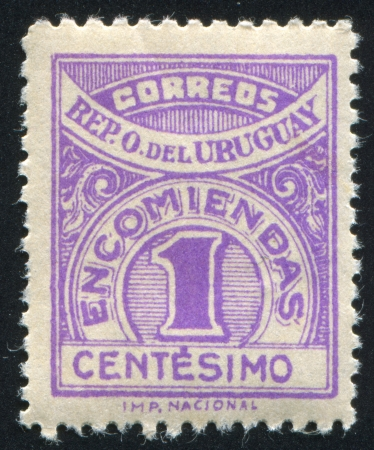 URUGUAY - CIRCA 1926: stamp printed by Uruguay, shows Numeral, circa 1926 Stock Photo - 14277765