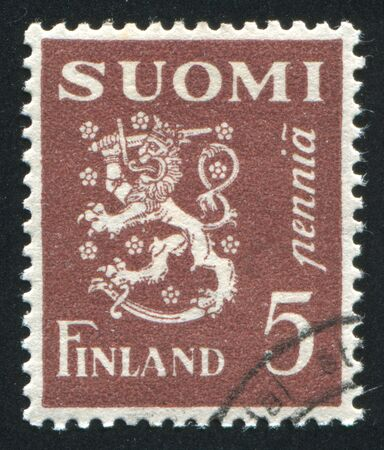 FINLAND - CIRCA 1930: stamp printed by Finland, shows Coat of arms of Finland, circa 1930