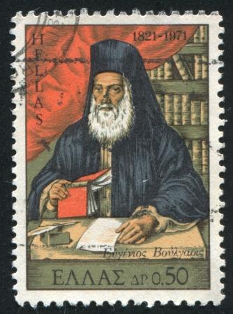 sotana: GRECIA - CIRCA 1971: sello impreso por Grecia, muestra Voulgaris Eugenio, obispo, alrededor del año 1971
