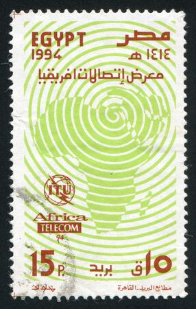 EGYPT - CIRCA 1994: stamp printed by Egypt, shows Map of Africa, circa 1994
