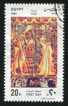 abjad: EGYPT - CIRCA 1997: stamp printed by Egypt, shows Pharaohs, circa 1997