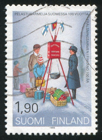 FINLAND - CIRCA 1989: stamp printed by Finland, shows Salvation Army in Finland, circa 1989