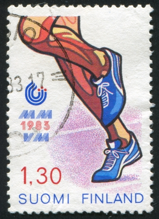 FINLAND - CIRCA 1983: stamp printed by Finland, shows Running, circa 1983