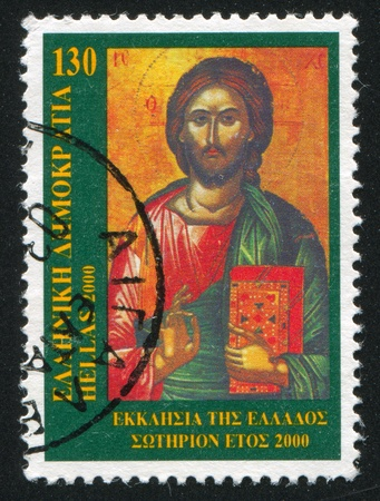 GREECE - CIRCA 2000: stamp printed by Greece, shows Icon of Christ, circa 2000