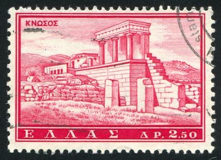 ravage: GREECE - CIRCA 1961: stamp printed by Greece, shows Knossos, circa 1961