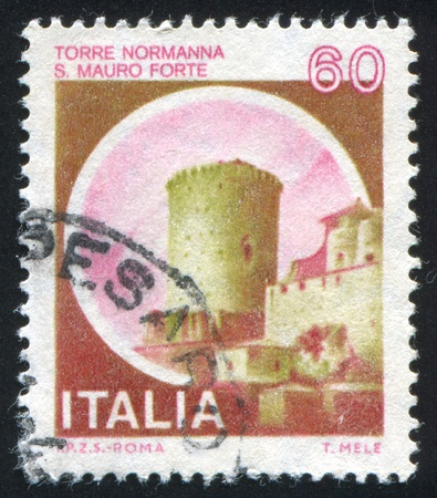 ITALY - CIRCA 1980: stamp printed by Italy, shows castle, Norman Tower, St. Mauro Fort, circa 1980