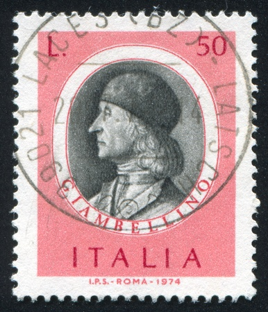 bellini: ITALY - CIRCA 1974: stamp printed by Italy, shows Famous artist, Giovanni Bellini, circa 1974
