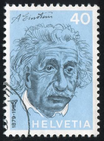notability: SWITZERLAND - CIRCA 1972: stamp printed by Switzerland, shows Albert Einstein, circa 1972