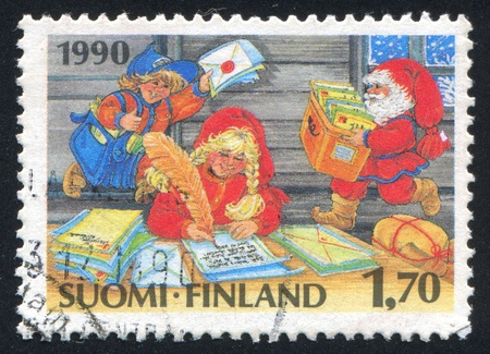 FINLAND - CIRCA 1990: stamp printed by Finland, shows Post Office of Santa Claus, circa 1990