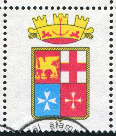 ITALY - CIRCA 1977: stamp printed by Italy, shows Coat of arms of Italian navy with crown, circa 1977
