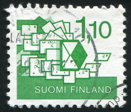 consignor: FINLAND - CIRCA 1984: stamp printed by Finland, shows Letters, circa 1984 Editorial