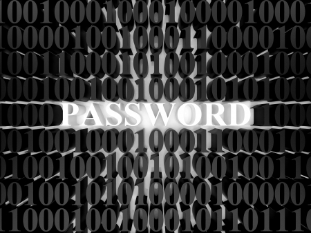 High resolution image password. 3d rendered illustration. Symbol password. Stock Illustration - 14631179
