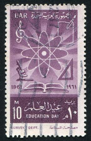 EGYPT - CIRCA 1961: stamp printed by Egypt, shows Tools, circa 1961