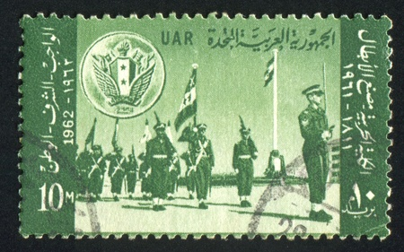 EGYPT - CIRCA 1962: stamp printed by Egypt, shows Military parade, circa 1962