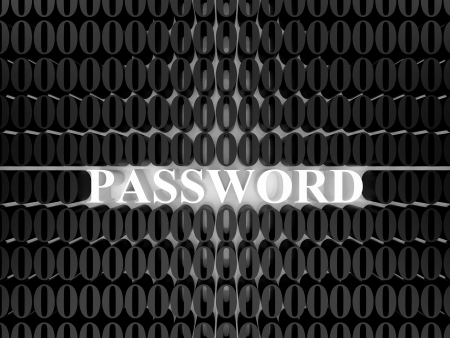 High resolution image password. 3d rendered illustration. Symbol password. Stock Illustration - 14751544