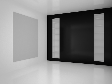 High resolution image empty interior. 3d rendered illustration. Stock Photo