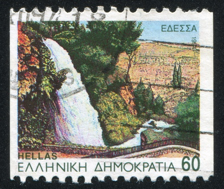 GREECE - CIRCA 1994: stamp printed by Greece, shows Edessa, waterfall, circa 1994