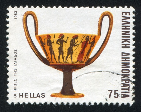 GREECE - CIRCA 1983: stamp printed by Greece, shows the heroes of the Iliad, circa 1983 Stock Photo - 14682903