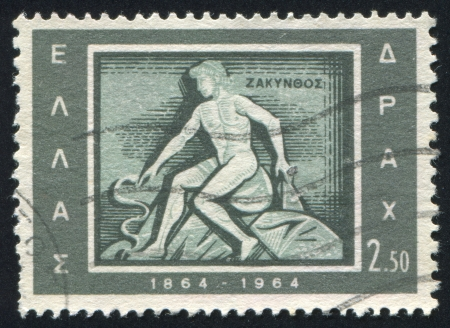 GREECE - CIRCA 1964: stamp printed by Greece, shows Zakintnos, Zante, circa 1964 Stock Photo - 14721054