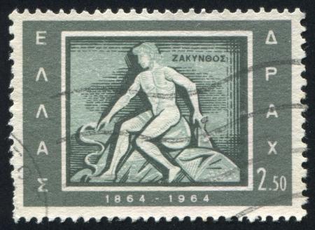 GREECE - CIRCA 1964: stamp printed by Greece, shows Zakintnos, Zante, circa 1964 Stock Photo - 14721054