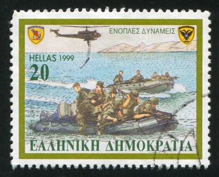 GREECE - CIRCA 1999: stamp printed by Greece, shows armed forces, circa 1999