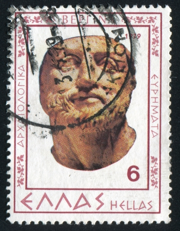 GREECE - CIRCA 1979: stamp printed by Greece, shows Philip II, bust, circa 1979 Stock Photo - 14755816