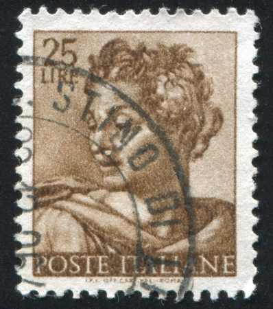 isaiah: ITALY - CIRCA 1961: stamp printed by Italy, shows Designs from Sistine Chapel by Michelangelo, Isaiah, circa 1961 Editorial
