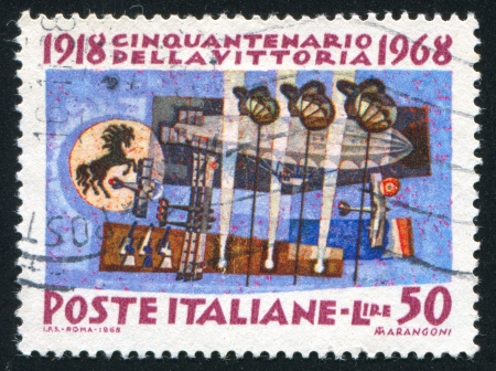 ITALY - CIRCA 1968: stamp printed by Italy, shows The Air Force, circa 1968