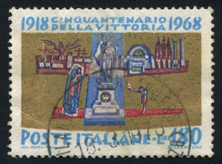 ITALY - CIRCA 1968: stamp printed by Italy, shows The Unknown Soldier, circa 1968 Stock Photo - 14755789