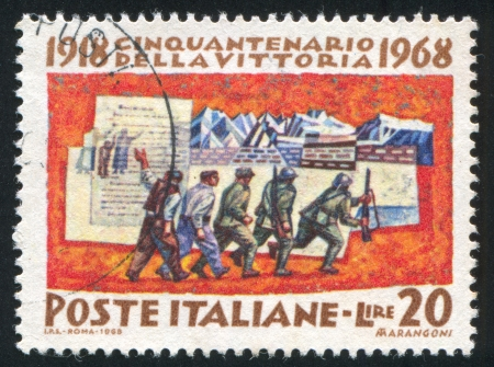 mobilization: ITALY - CIRCA 1968: stamp printed by Italy, shows Mobilization, circa 1968 Editorial