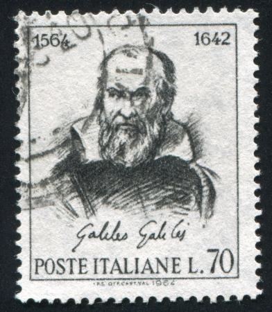 ITALY - CIRCA 1964: stamp printed by Italy, shows Galileo Galilei, circa 1964 Stock Photo - 14755676