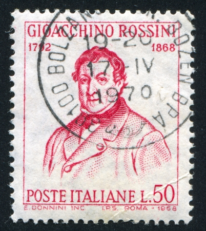 ITALY - CIRCA 1968: stamp printed by Italy, shows Gioacchino Rossini, circa 1968 Stock Photo - 14755697