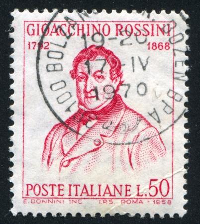 ITALY - CIRCA 1968: stamp printed by Italy, shows Gioacchino Rossini, circa 1968 Stock Photo - 14755697