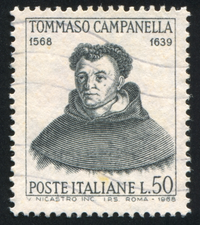 ITALY - CIRCA 1968: stamp printed by Italy, shows Tommaso Campanella, circa 1968 Stock Photo - 14755654
