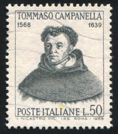 ITALY - CIRCA 1968: stamp printed by Italy, shows Tommaso Campanella, circa 1968 Stock Photo - 14755654