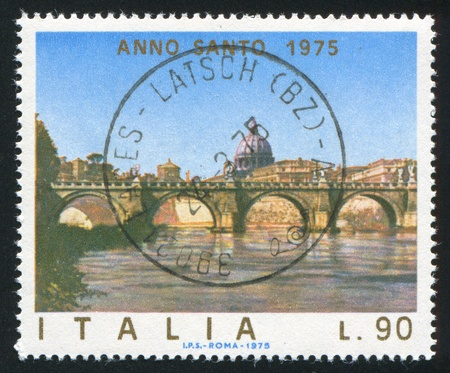 anno: ITAIY- CIRCA 1975: stamp printed by Italy, shows Anno santo, circa 1975