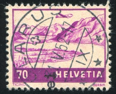 SWITZERLAND - CIRCA 1941: stamp printed by Switzerland, shows View of Ticino, circa 1941